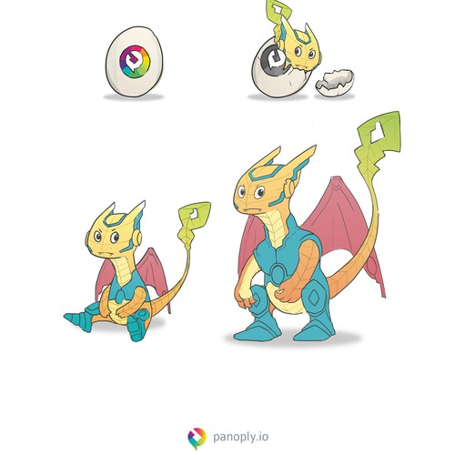 Meca Dragon Design Character