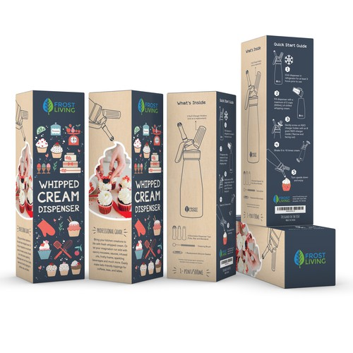 Whipped Cream Dispenser Packaging Design