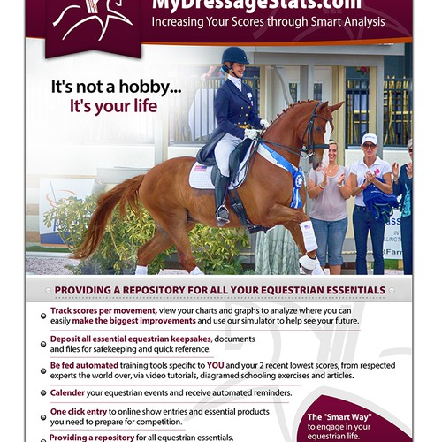 New postcard or flyer wanted for MyDressageStats