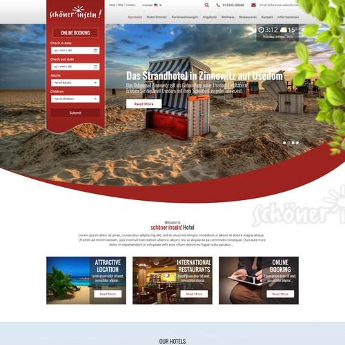 """schöner-inseln"""" Hotels und Ferienwohnungen Website Design"""