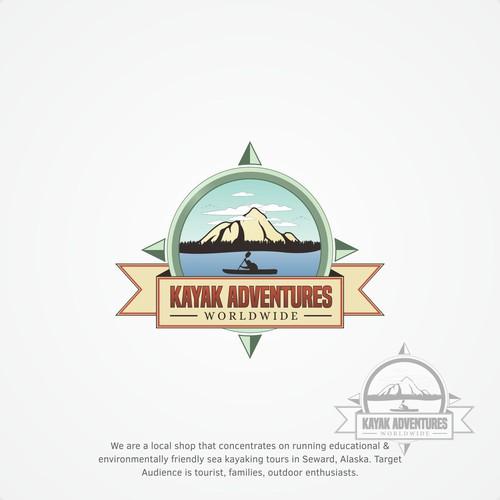 adventure concept for kayak adventures logo.