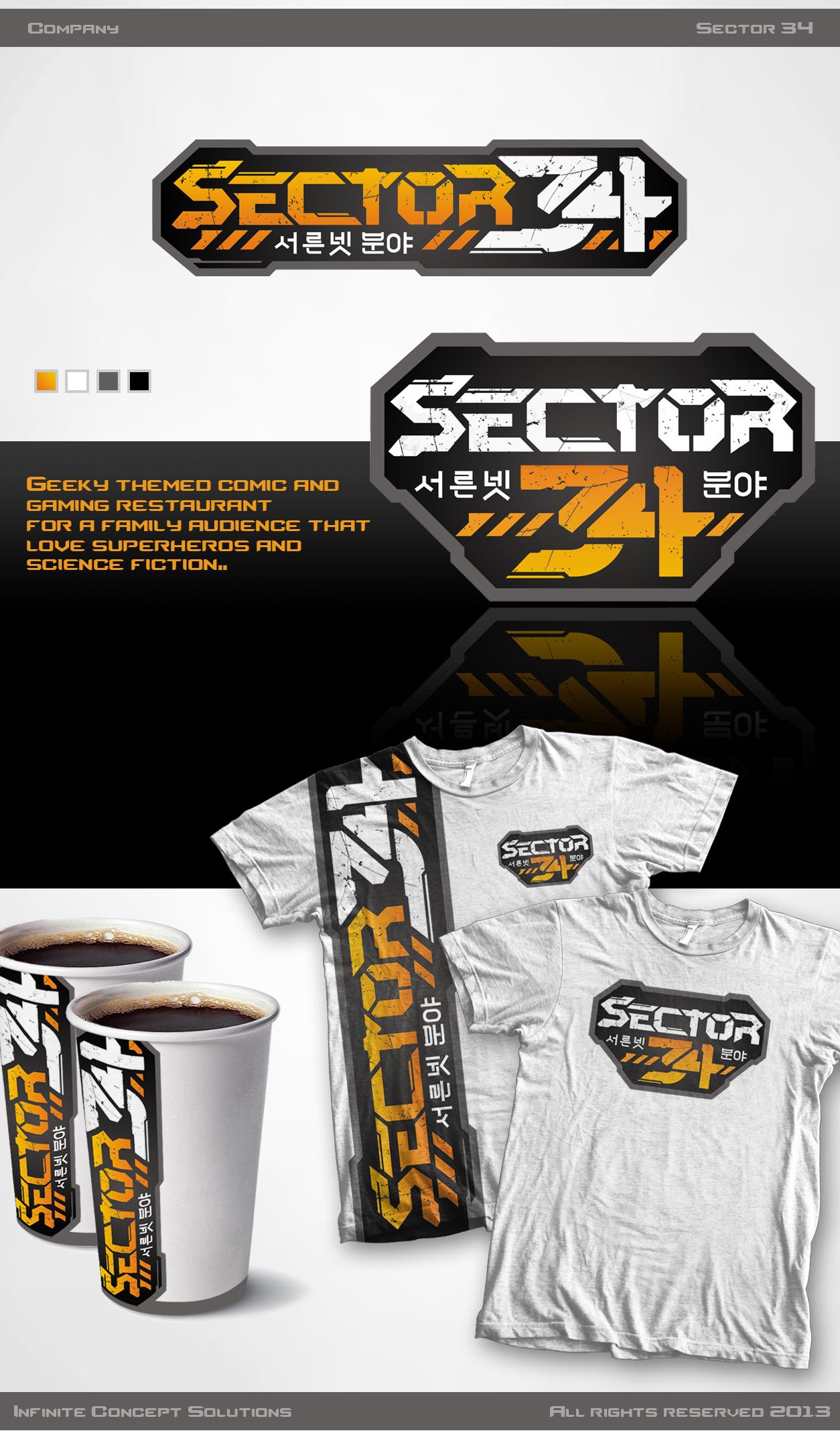 Sector34 needs logo for a geek restaurant