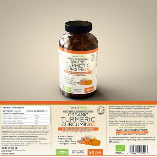 Organic Turmeric Curcumin95 bottle