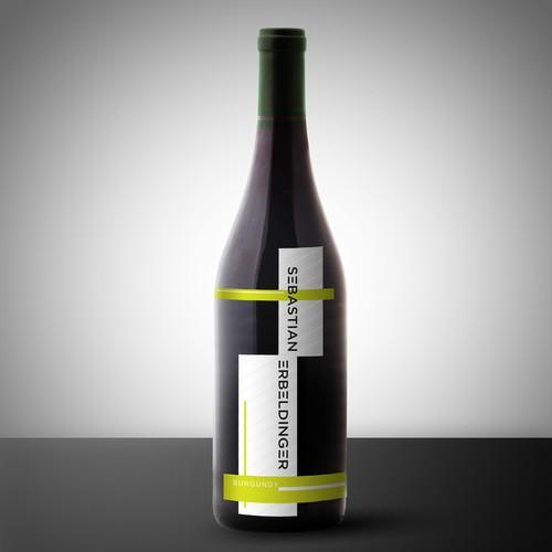 Die Cut Wine Label