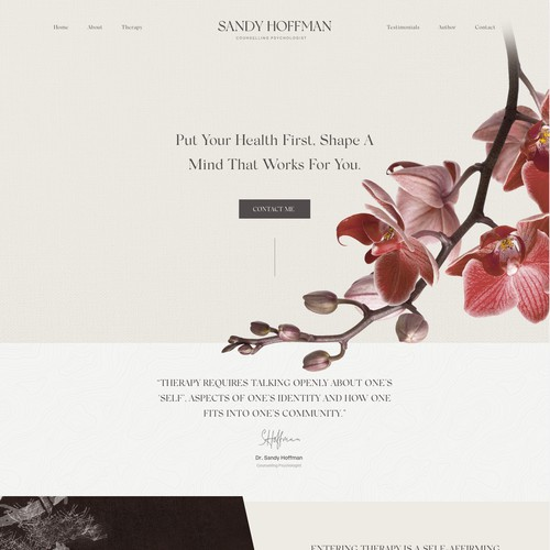 Web Design for a Consulting Psychologis