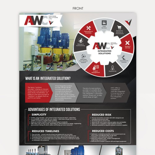 Infographic flyer design for AWC