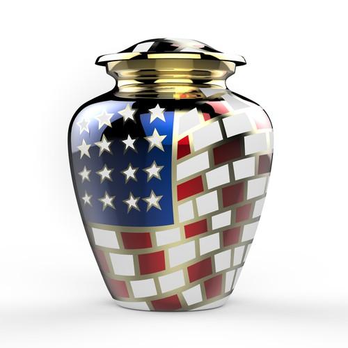 American memorial urn design