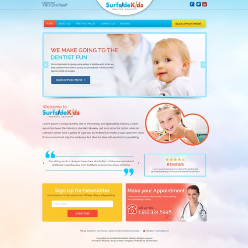 Surfside Kids - Web Design