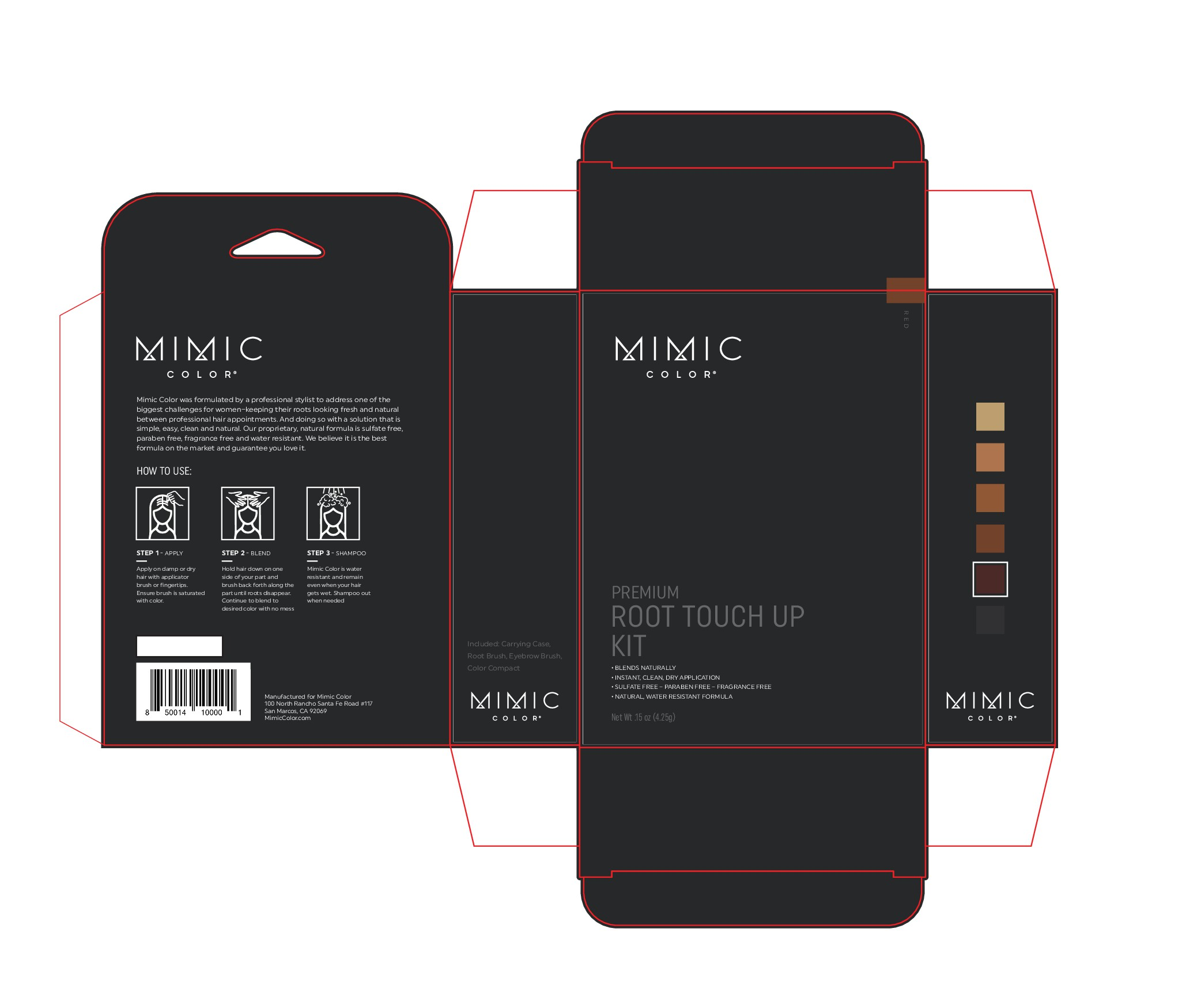 Premium Mimic color packaging for high end salons