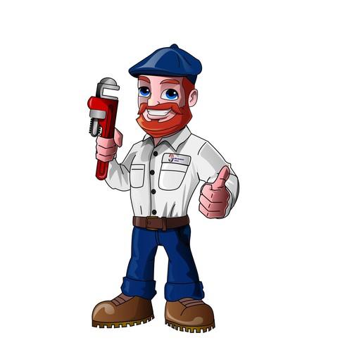 plumber mascot design