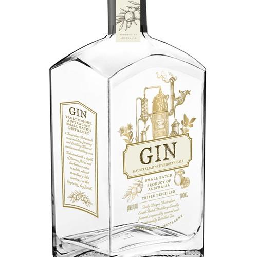 Alchemy style Gin spirit design