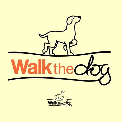 simple dog design logo