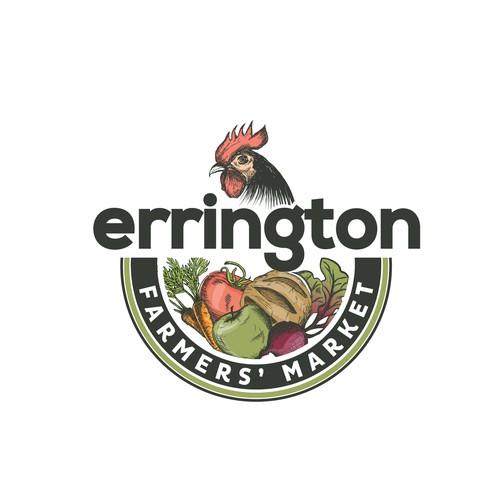 Hand drawn logo for The Errington Farmers' Market