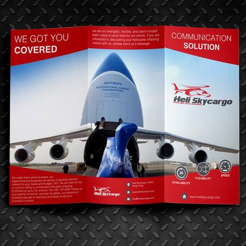 Create a sharp corporate brochure for Heli Skycargo
