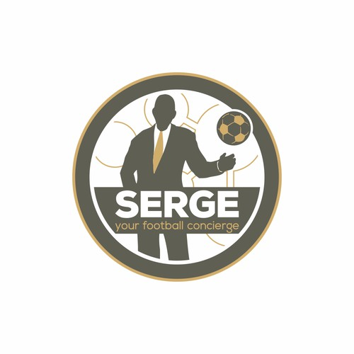 "Be creative , SERGE is it also! I would like to have a visuable ""concierge"" in the logo. This ""guy"" should be Serge"