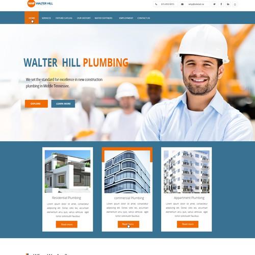 Walter Hill Plumbing website