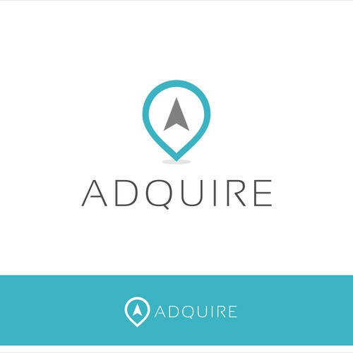 Create a fresh logo for location based advertising start-up.