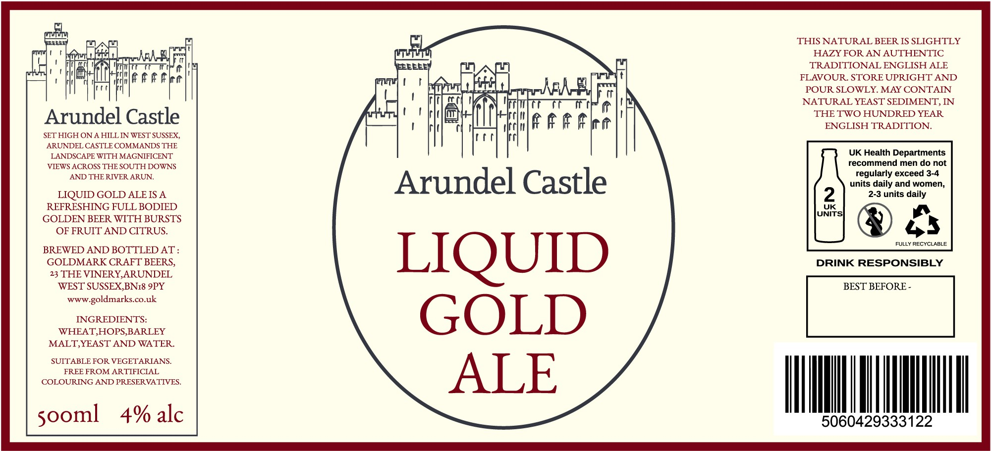 Arundel Castle Beer bottle label