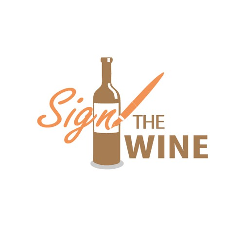 Create a Logo for our New Company called Sign The Wine