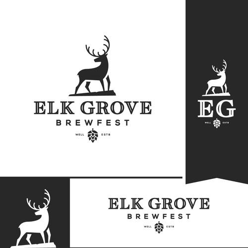 Elk design for a brewing company