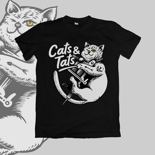 tshirt design for cats and tats