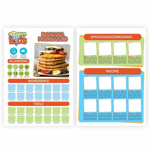 Recipe book layout design