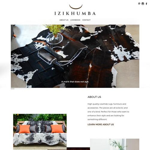 Website design for Izikhumba