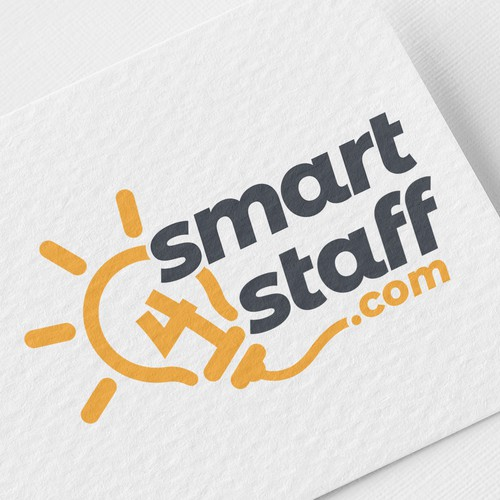 Logo design for smart staff management software.