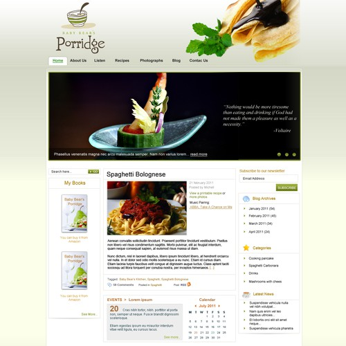 Concierge Kitchen Service wordpress -to go worldwide