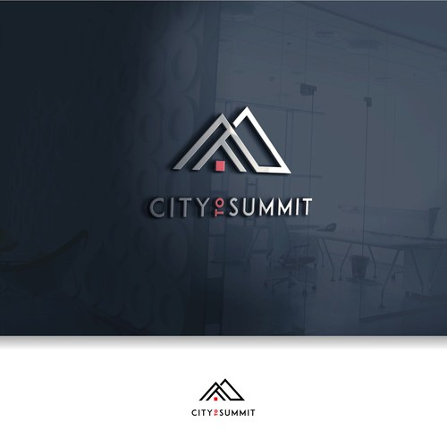 a combination of city and mountain logo