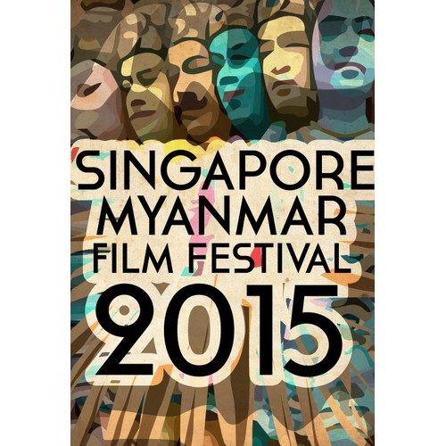 Creative interactive poster design for the Singapore Myanmar Film Festival