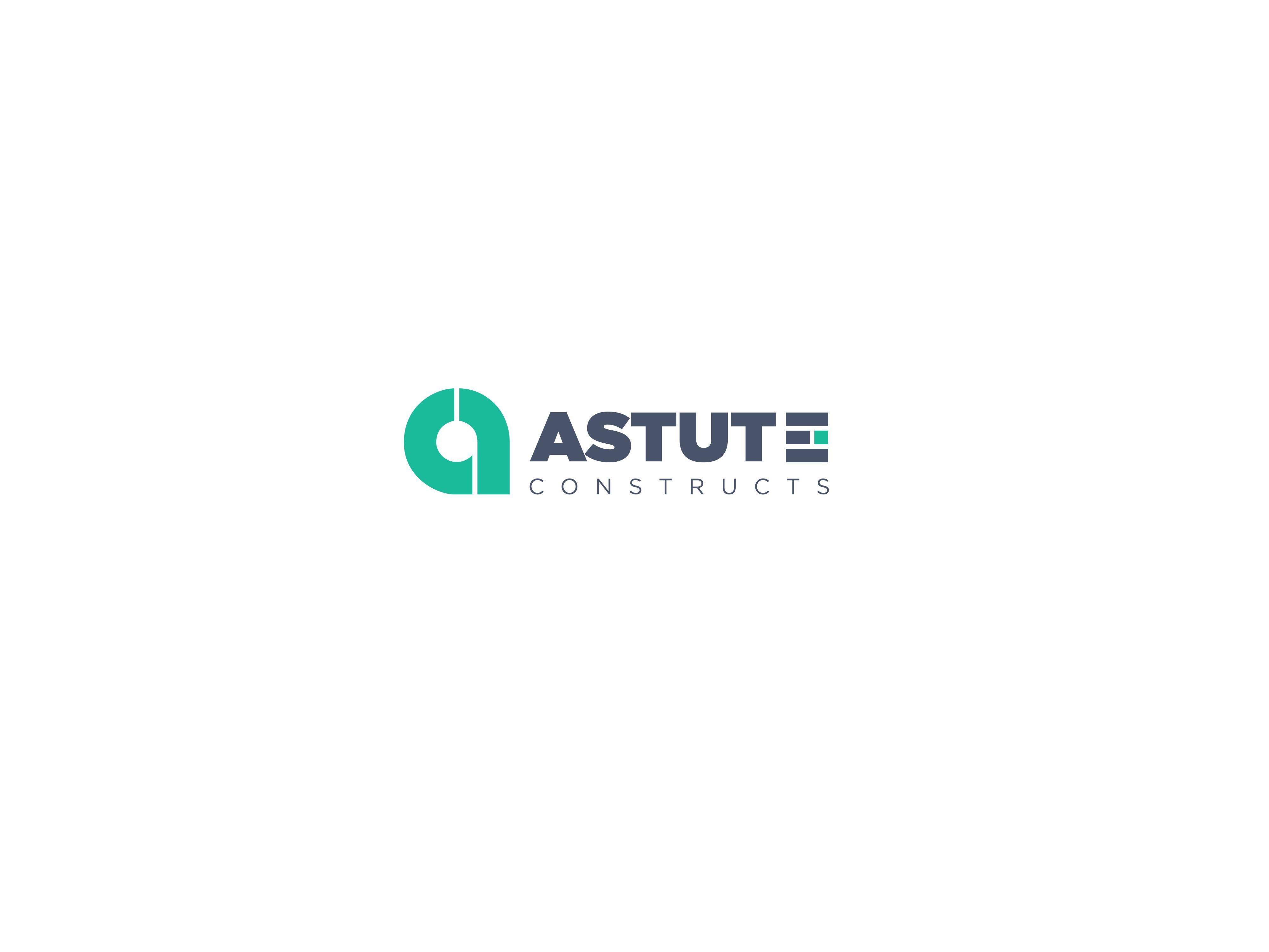 Saas Astute Constructs Logo Design