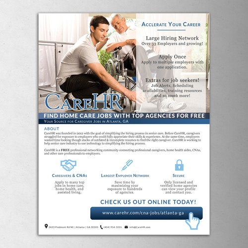 Clean design Flyer for Job Placement