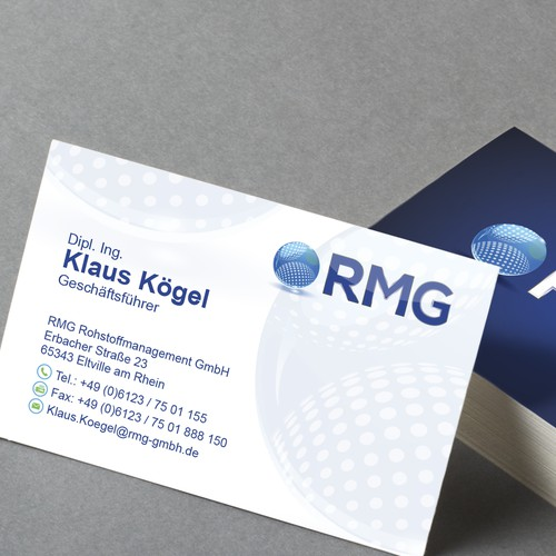 RMG Business card design