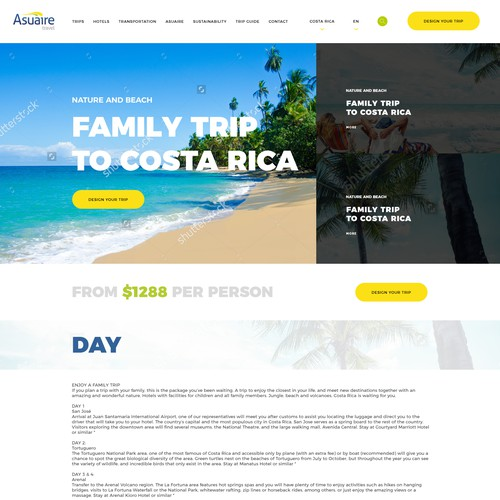 concept for travel agency