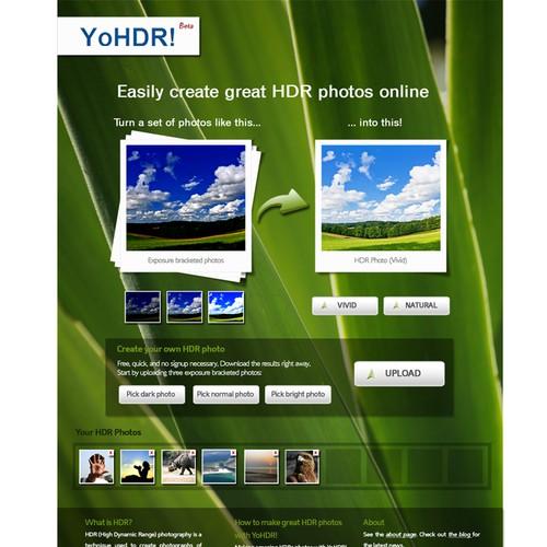 Design the YoHDR.com website
