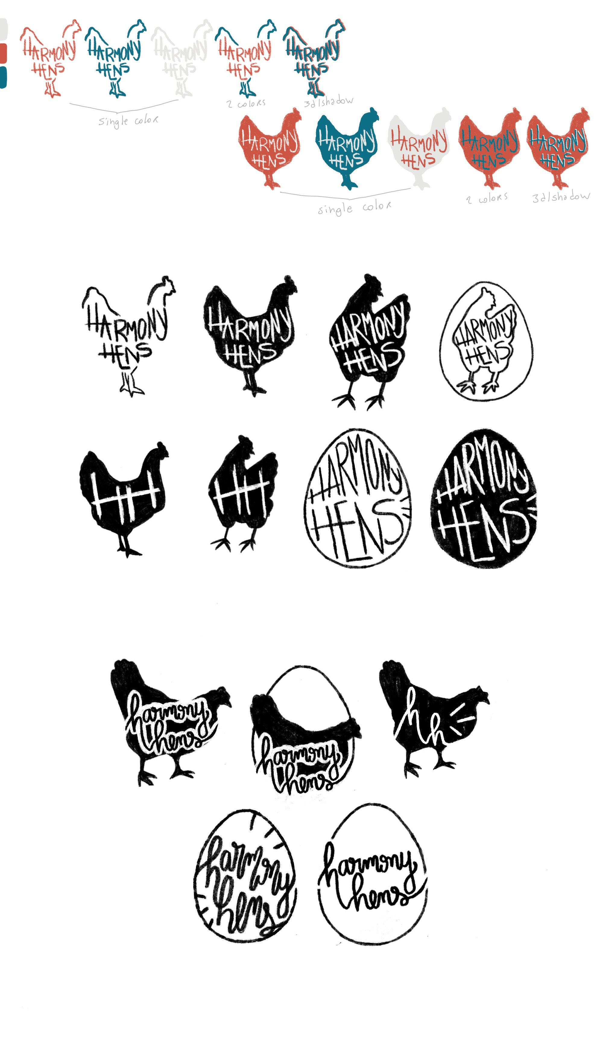 Design Certified Organic Harmony Hens Local Agriculture Logo
