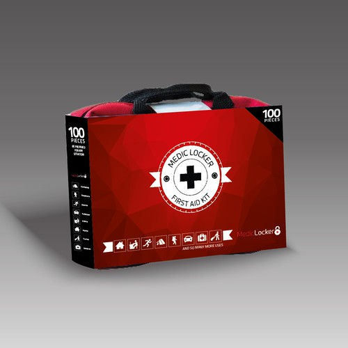 Bold Packaging for First Aid Kit