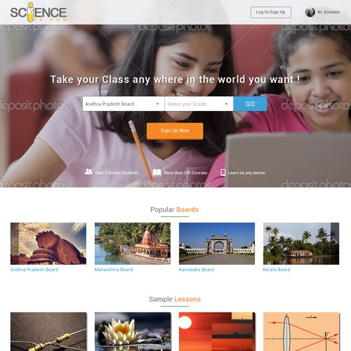 Science Education Web and App