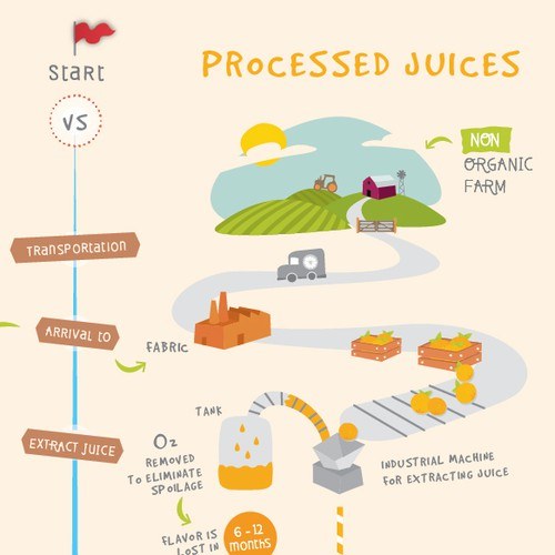 Infographic for a Raw Juices company
