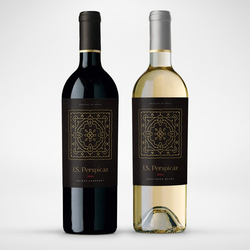 Modern, minimalistic Spanish wine label