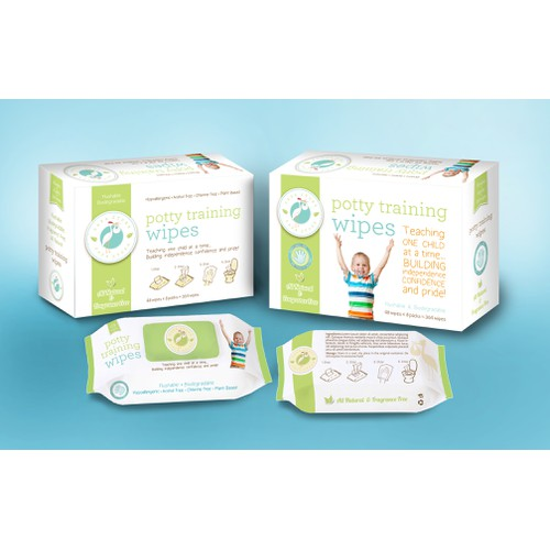 Potty Training Wipe Package Design