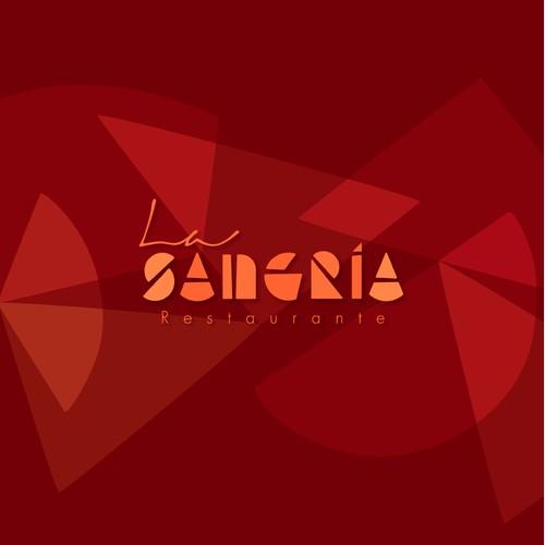 Identity design for La Sangría restaurant.