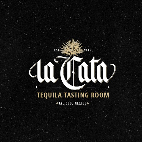 Lettering logo for La Cata.