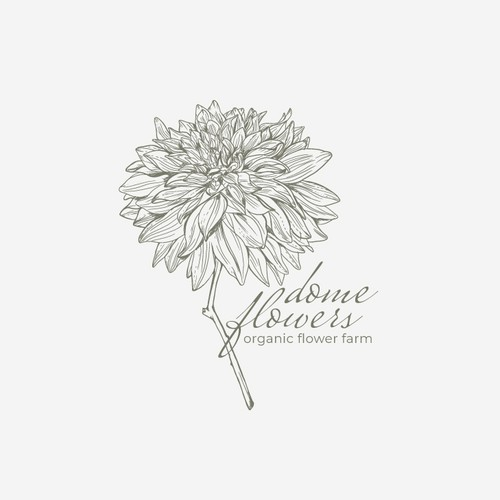Logo for organic flower farm