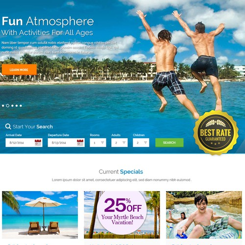 Breakers Resort Website Design