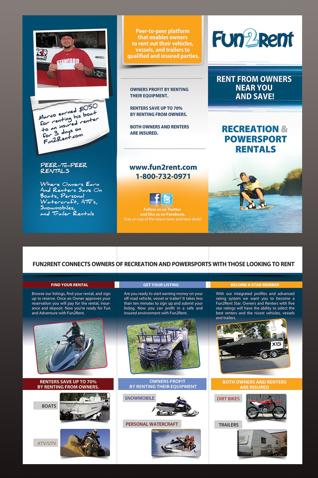 Fun2Rent.com needs a new brochure (tri fold)