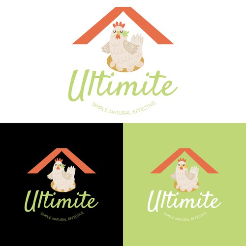 Fun, playful logo concept for a red mite company