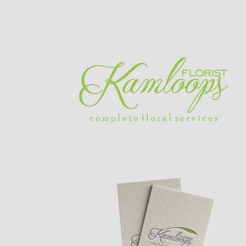 wavy logo for florist company