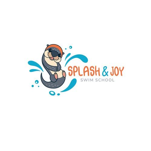 Playful logo-design for Children swimming center